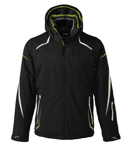 Maier Sports Herren Ski-Jacke Parry mTEX El., black/macaw green, 58, 110005