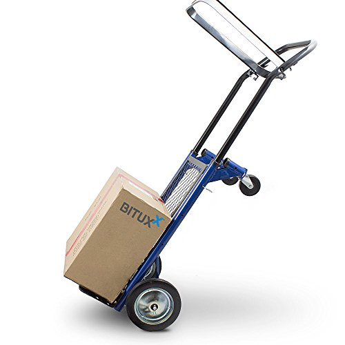 BITUXX® 2in1 Multifunktionskarre Sackkarre klappbar Transportkarre Handkarre Stapelkarre Plattformwagen 80kg