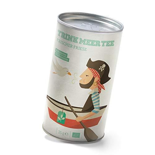 Trink Meer Tee FRISCHER FRIESE - Bio Kräutertee | hocharomatisch | Bio Pfefferminztee | loser Tee in Teedose | Geschenk I 25g