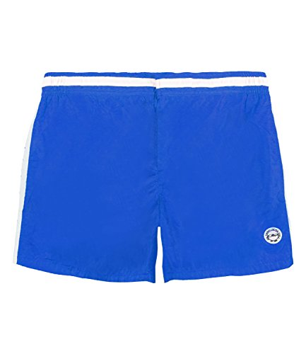 CMP Boardshort Badehose Swimwear Blau Druckknopf Weiß Schnürung Kurz