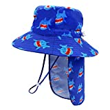 Kids Sun Hat Kids Bucket Hat with Neck Flap Kids Sun Hat Boys Sun Hats 4-7 Girls Sun Hats for Kids Ages 4-8 UPF 50+