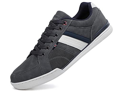 AX BOXING Sneakers Hombre Zapatos Casual Zapatillas Moda Ligero Deporte Gimnasio Running Tamaño 41-46 (1006Gris, Numeric_43)