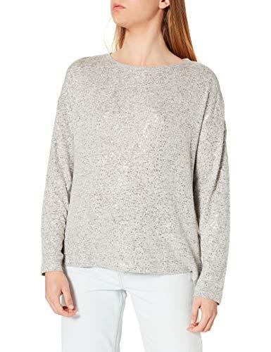 Springfield Camiseta Lentejuelas, Gris Oscuro, XL para Mujer