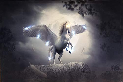 Samarkand - Lights LED Bild Leuchtbild 65 cm x 45 cm Bilder Einhorn Pferd Wandbild