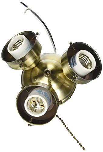 Fanimation F301AB Three Light Turtle Fitters Collection, 0, Antique Brass