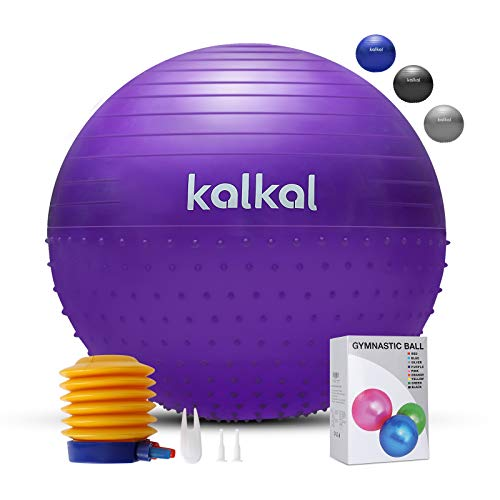 Exercise Gym Anti-Burst for Balance Pilates Fitness EURODO Yoga Ball with Quick Pump Pregnancy and Labour