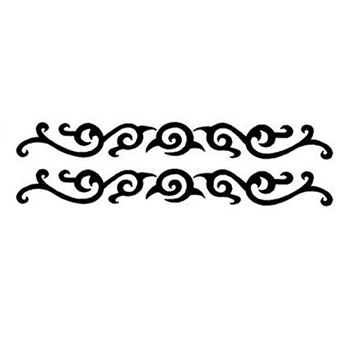 2 Pcs Tatouages Styles individuels Armband Design Tattoo tatouages du corps Faux Creative