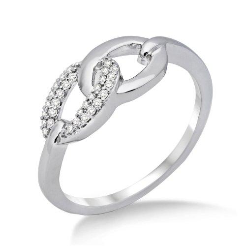 Miore Damen-Ring 750 Weißgold mit Brillanten