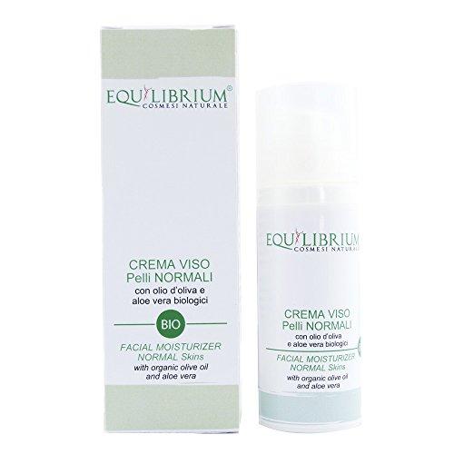 Equilibrium - Cosmétique naturel Crème pour le Visage Peaux Normales 50 ml BIO avec huile d'olive et Aloe Vera biologiques