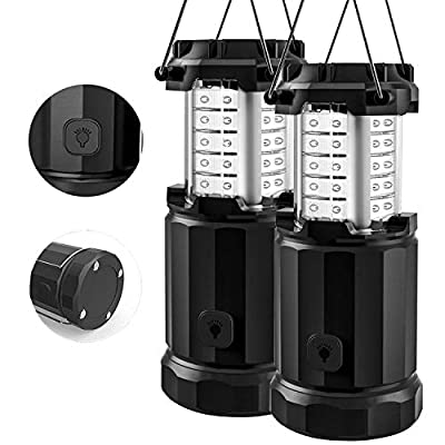 Etekcity Camping Lantern Battery Powered Led Lights with AA Batteries, Upgraded Magnetic Base and Brightness Control Flashlights for Power Outage, Backpacking, Hiking, Storms