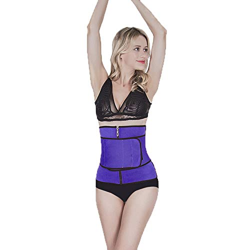 Alex Vando Taillen-Trainingsgürtel für Damen, Taillenmieder-Trimmer, Body Shaper Gürtel, Damen, violett, Large