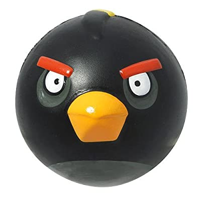 """Angry Birds 4"""" Sculpted Foam Ball, Black Bird"""