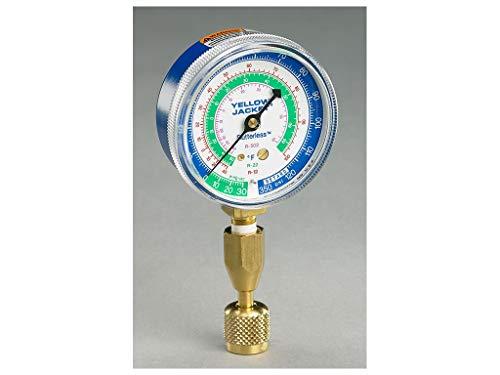 Yellow Jacket 40345 Blue Single Test Pressure Gauge (R22/R410A/R404A) W/12' Hose