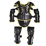 Kids Motorcycle Armor Suit Dirt Bike Chest Back Spine Protector Shoulder Arm Eblow
