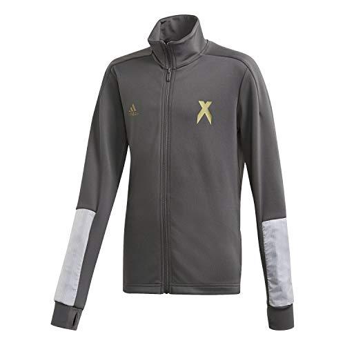 adidas B A.R. X TTOP Sweatshirt, Niños, Grey Six/Gold Met, 8-9Y