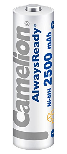 Camelion 17425206 Pack de 2 Piles Rechargeables Always Ready NiMH HR6 AA 2500 mAh