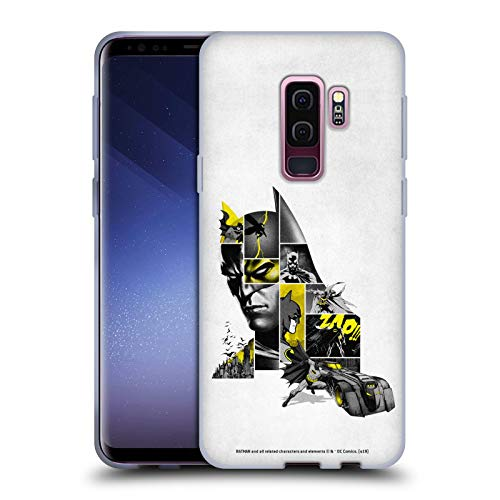 Head Case Designs Officially Licensed Batman DC Comics Collage 80th Anniversary Soft Gel Case Compatible with Samsung Galaxy S9+ / S9 Plus