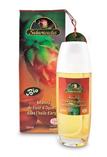 Macérat de figue de Barbarie à l'huile d'argan, soulage les rougeurs, les irritations de la peau, retarde le vieillissement, ralentit les rides, 50 ml   Saharacactus