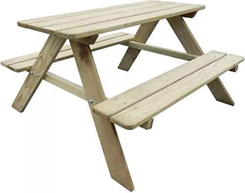 MaxxGarden Table de Pique-Nique pour Enfants - bancs rabattables en Bois - 90x79x50cm