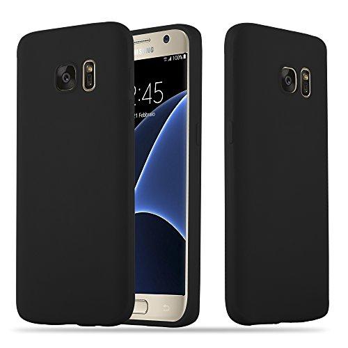 Cadorabo Hülle für Samsung Galaxy S7 in Candy SCHWARZ - Handyhülle aus flexiblem TPU Silikon - Silikonhülle Schutzhülle Ultra Slim Soft Back Cover Case Bumper
