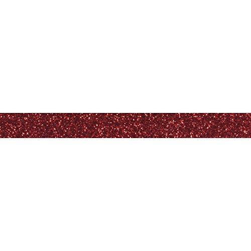 RAYHER 59925287Glitter Tape, 15mm, Rotolo 5m, klassikrot