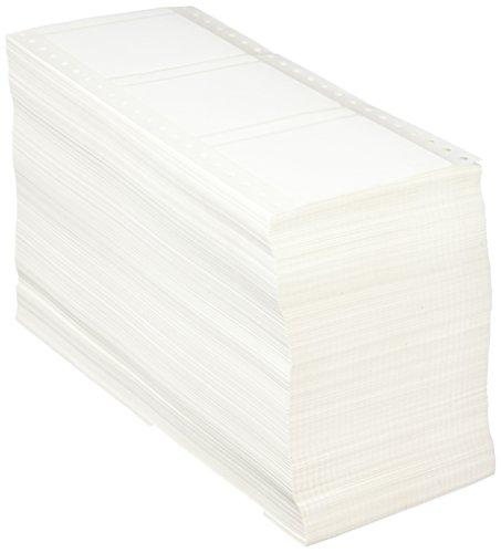 Compulabel ピンフィード ラベル ファンフォールド 汚れ防止 3 1/10インチ x 2 7/8インチ ホワイト (170302)