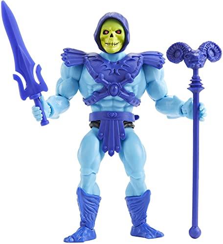 Masters of the Universe HGH45, Origins Skeletor Action Figure, Personaggio da Combattimento per Il Gioco e da Collezione, Multicolore