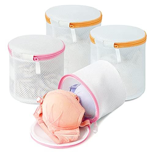 Amazon Brand - Eono BH Wäschenetz für Waschmaschine, Dessous und Feinwäsche Wäschesack, Wäschebeutel aus Netzstoff Set, ideal für Alle Arten von Kleidung, BHs und Schuhen - 4-Set