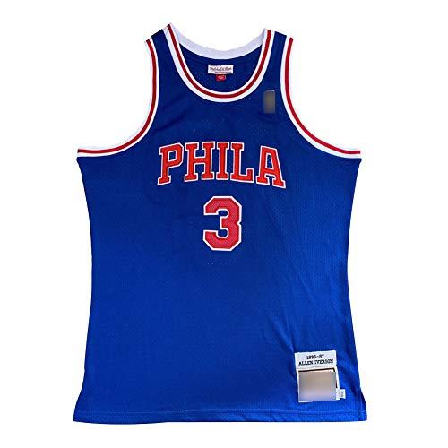 QAZX Camiseta de Baloncesto Retro para Hombre # 3 Iverson Sixers, Camisa...