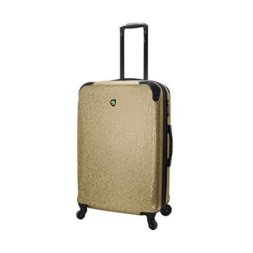 Mia Toro Italy Ofena Hardside 26 Inch Spinner Luggage, Gold