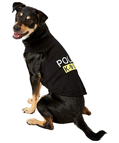 Pet Dog Halloween Shirts for Dogs Police Clothes Medium Dog Clothes for Medium Dogs, XXL, Black