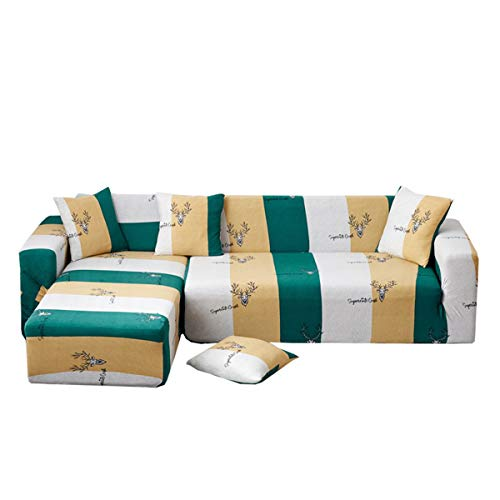 Yunchengyunxiangtong Stretch Couch All Inclusive Universal-Stoff Four Seasons Universal Anti-Rutsch-Leder Sofakissen Handtuch Full Cover Elastic-Sofa-Abdeckung (Size : Quadruple)