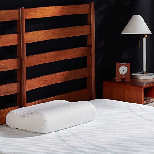 Tempur-Pedic TEMPUR-Ergo Neck Pillow Firm Support, Standard Size, White