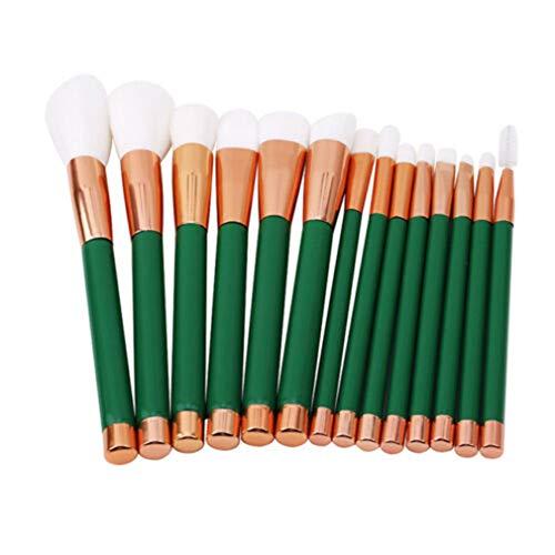 LIXIAQ1 Femmes 15 Pcs Pinceaux De Maquillage Set Correcteur Ombre À Paupières Flawless Poudre Brosse Kit Cosmétique Outil
