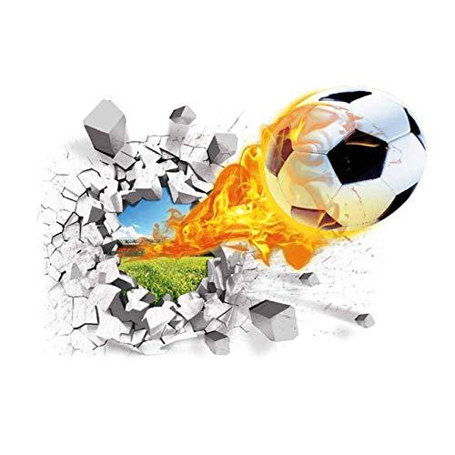 Ballylelly Super Real 3D Calcio Wall Sticker Dirtproof Cartoon Poster da parete Adesivo da parete Adesivo decorativo da parete