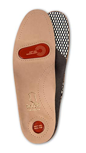 Plantillas Ortopédicas de Longitud Completa para Zapatos de Tacco Gel-Deluxe, Cuero Curtido Ecológicamente, Plantilla para Soporte de Arco con Almohadillas de Gel para Juanete y Talón (41 EUR)
