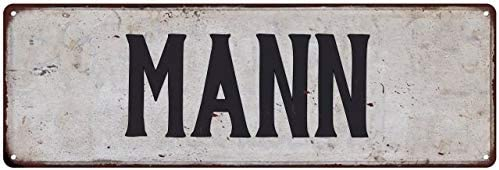Mann Family Name Sign Personalized Si In stock Metal Direct sale of manufacturer Decor Vintage Rustic