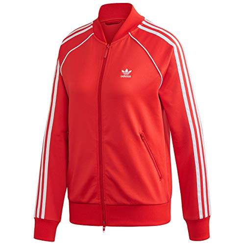 adidas SS TT, Giacca Donna, Lusred/White, 42