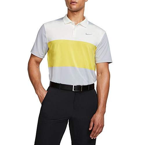 Nike Dri Fit Vapor CB Golf Polo 2019 Sail/Chrome Yellow/Wolf Gray Medium
