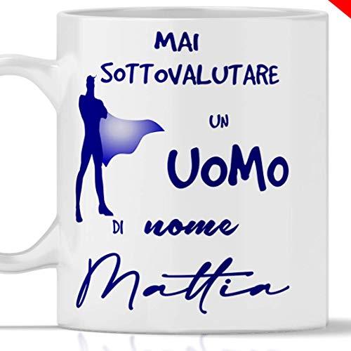 Taza con nombre Mattia, ideal como regalo para todos los hombres que se llaman Mattia