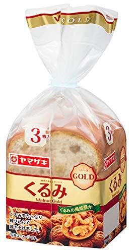 ヤマザキ くるみゴールド 3枚切り×4斤セット (小型)くるみのおいしさをたっぷり詰め込み 山崎製パン横浜工場製造品