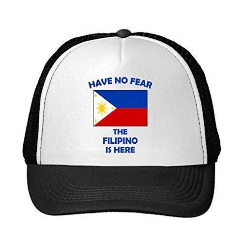 Have No Fear Filipino is Here Philippines Filipinos Adjustable Trucker Hat Cap Black