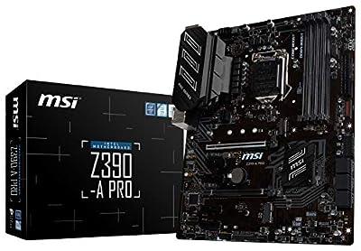 MSI Z390-A PRO LGA1151 (Intel 8th and 9th Gen) M.2 USB 3.1 Gen 2 DDR4 HDMI DP CFX Dual Gigabit LAN ATX Z390 Gaming Motherboard