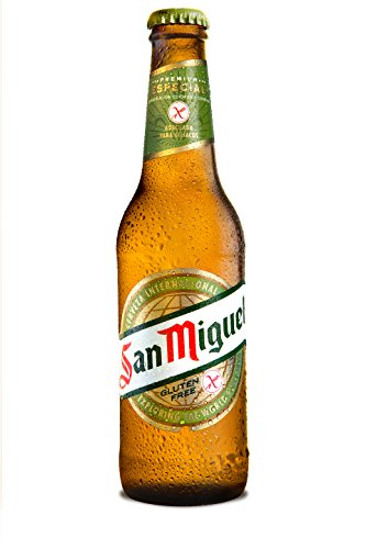 San Miguel Especial Gluten Free Cerveza Dorada Lager, 5.4% Volumen de Alcohol - Botella de 33 cl