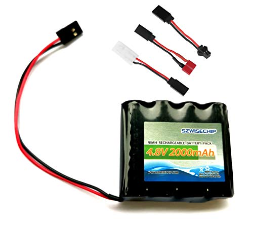 NiMH Receiver RX Battery with Hitec Connectors 4.8V 2000mAh High Capacity Rechargeable Battery Pack for Toys and Tools: RC Receivers, RC Aircrafts