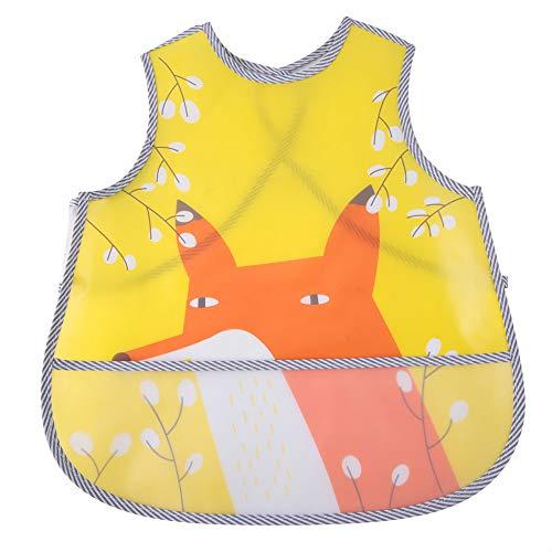 Asixxsix Ropa para bebés, Suministros para bebés, paños para babas, Chaleco para bebés, para bebés para niños pequeños(Yellow Fox)