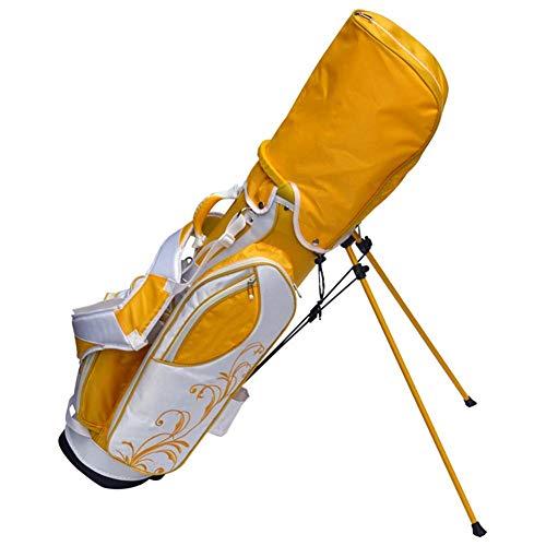 kaige Golf Sac sur Pied Sac de Golf résistant à l'usure Non-Slip de Golf Sac sur Pied for Hommes et Golf Femmes, Jaune WKY