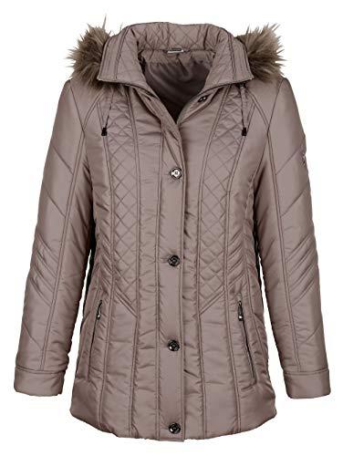 BARBARA LEBEK Damen Jacke in Taupe mit aufwändigen Zier-Steppungen