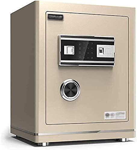 Cajas fuertes para el hogar, cajas de seguridad para dinero, caja fuerte electrónica para el hogar con alarma de oficina mediana Caja de almacenamiento antirrobo segura para huellas dactilares (Color
