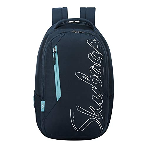 SKYBAGS Campus Navy Blue Logo Print College Laptop Backpack 30L